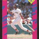 Boston Red Sox Ellis Burks 1990 Classic Travel Baseball Card # t8 nr mt