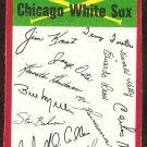 Chicago White Sox Red Team Checklist 1974 Topps Baseball Card vg unmarked