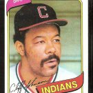 Cleveland Indians Cliff Johnson 1980 Topps Baseball Card # 612 nr mt