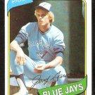 TORONTO BLUE JAYS JERRY GARVIN 1980 TOPPS # 611 NR MT