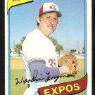 Montreal Expos Woody Fryman 1980 Topps Baseball Card # 607 nr mt