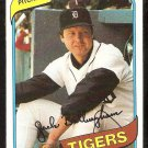 Detroit Tigers Jack Billingham 1980 Topps Baseball Card # 603 nr mt