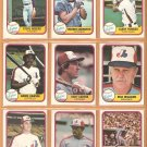 1981 FLEER MONTREAL EXPOS TEAM LOT 26 DIFF GARY CARTER ANDRE DAWSON DICK WILLIAMS +