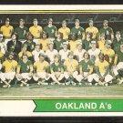 Oakland Athletics Team Card 1974 Topps Baseball Card # 246 vg/ex