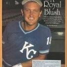 KANSAS CITY ROYALS BRET SABERHAGEN 1990 PINUP PHOTO