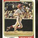1974 Topps Baseball Card # 255 Philadelphia Phillies Larry Bowa vg