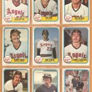 1981 Fleer California Angels Team Lot 23 diff Rod Carew Bobby Grich Don Baylor Carney Lansford