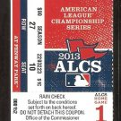 2013 BOSTON RED SOX DETROIT TIGERS ALCS GAME 1 TICKET NEAR NO HITTER