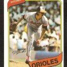 Baltimore Orioles Mike Flanagan 1980 Topps Baseball Card # 640 nr mt
