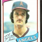 California Angels Mark Clear 1980 Topps Baseball Card # 638 nr mt
