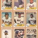 1981 Fleer New York Mets Team Lot 23 Joe Torre Lee Mazzilli Jeff Reardon RC Craig Swan Neil Allen