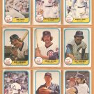 1981 Fleer Chicago Cubs Team Lot Dave Kingman Bruce Sutter Bill Buckner Rick Reuschel Will Hernandez