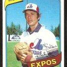 Montreal Expos Stan Bahnsen 1980 Topps baseball card # 653 Nr Mt