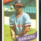 Texas Rangers Larvell Blanks 1980 Topps Baseball Card # 656 nr mt