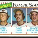 Baltimore Orioles Future Stars Corey Ford Wayne Krenchicki 1980 Topps # 661 nr mt