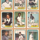 1981 FLEER CHICAGO WHITE SOX TEAM LOT 20 DIFF LaRUSSA BAINES RC LEMON +