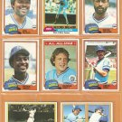 1981 TOPPS KANSAS CITY ROYALS TEAM LOT 28 DIFF 3 GEORGE BRETT TEAM 2 WILLIE WILSON FRANK WHITE McRAE