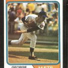 New York Mets George Stone 1974 Topps Baseball Card # 397 Vg/Ex