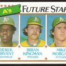 Oakland Athletics Future Stars Derek Bryant Brian Kingman Mike Morgan 1980 Topps # 671