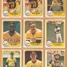 1981 Fleer Pittsburgh Pirates Team Lot Willie Stargell Dave Parker Bill Madlock Tekulve Moreno