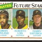 Pittsburgh Pirates Future Stars Dorian Boyland Alberto Lois Harry Saferight 1980 Topps # 683 nm