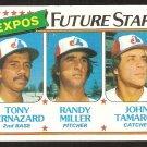 Montreal Expos Future Stars Tony Bernazard Randy Miller John Tamargo 1980 Topps # 680 nm