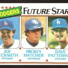 LOS ANGELES DODGERS FUTURE STARS JOE BECKWITH MICKEY HATCHER DAVE PATTERSON 1980 TOPPS # 679 NM