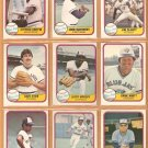1981 Fleer Toronto Blue Jays Team Lot Dave Stieb Lloyd Moseby rc Alfredo Griffin John Mayberry