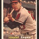 Milwaukee Braves Johnny Logan 1957 Topps Baseball Card # 4 em/nm