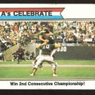 OAKLAND A's ATHLETICS CELEBRATE WORLD SERIES 1974 TOPPS BASEBALL CARD # 479 good