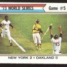World Series Game 5 New York Mets Cleon Jones Jerry Grote 1974 Topps Baseball Card # 476 vg