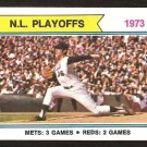 National League Playoffs New York Mets Jerry Koosman  1974 Topps Baseball Card # 471 vg