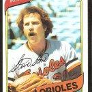 Baltimore Orioles Steve Stone 1980 Topps Baseball Card # 688 nr mt