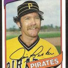 Pittsburgh Pirates Jim Rooker 1980 Topps Baseball Card # 694 ex/nm