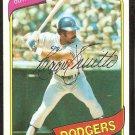 Los Angeles Dodgers Reggie Smith 1980 Topps Baseball Card # 695 nr mt