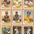 1981 Fleer San Diego Padres Team Lot 24 diff Dave Winfield Rollie Fingers Ozzie Smith Randy Jones