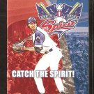 LYNN MA NORTH SHORE SPIRIT 2004 POCKET SCHEDULE FRASER FIELD CAN-AM LEAGUE NORTHEAST LEAGUE