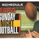 2001 ESPN Sunday Night Football Pocket Schedule Joe Theismann