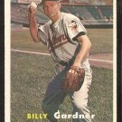 Baltimore Orioles Billy Gardner 1957 Topps Baseball Card # 17 ex/em