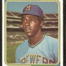 Milwaukee Brewers Bobby Mitchell 1974 Topps Baseball Card # 497 g/vg