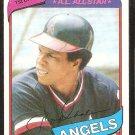 California Angels Rod Carew 1980 Topps Baseball Card # 700 nr mt