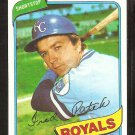KANSAS CITY ROYALS FREDDIE PATEK 1980 TOPPS BASEBALL CARD # 705 NR MT