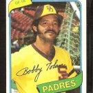 San Diego Padres Bob Tolan 1980 Topps Baseball Card # 708 ex