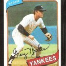 New York Yankees Graig Nettles 1980 Topps Baseball Card # 710 em/nm