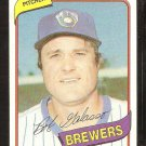 MILWAUKEE BREWERS BOB GALASSO 1980 TOPPS BASEBALL CARD # 711 NR MT