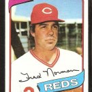 Cincinnati Reds Fred Norman 1980 topps baseball card # 714 nr mt