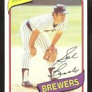 Milwaukee Brewers Sal Bando 1980 topps baseball card # 717 nr mt