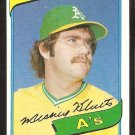 Oakland Athletics Mickey Klutts 1980 topps baseball card # 717 nr mt
