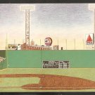 Boston Red Sox Fenway Park Postcard The Green Monster Artwork by Kevin Hubbard