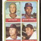 Rookie Outfielders Orioles Brewers Indians Yankees 1974 topps baseball card # 606 ex mt